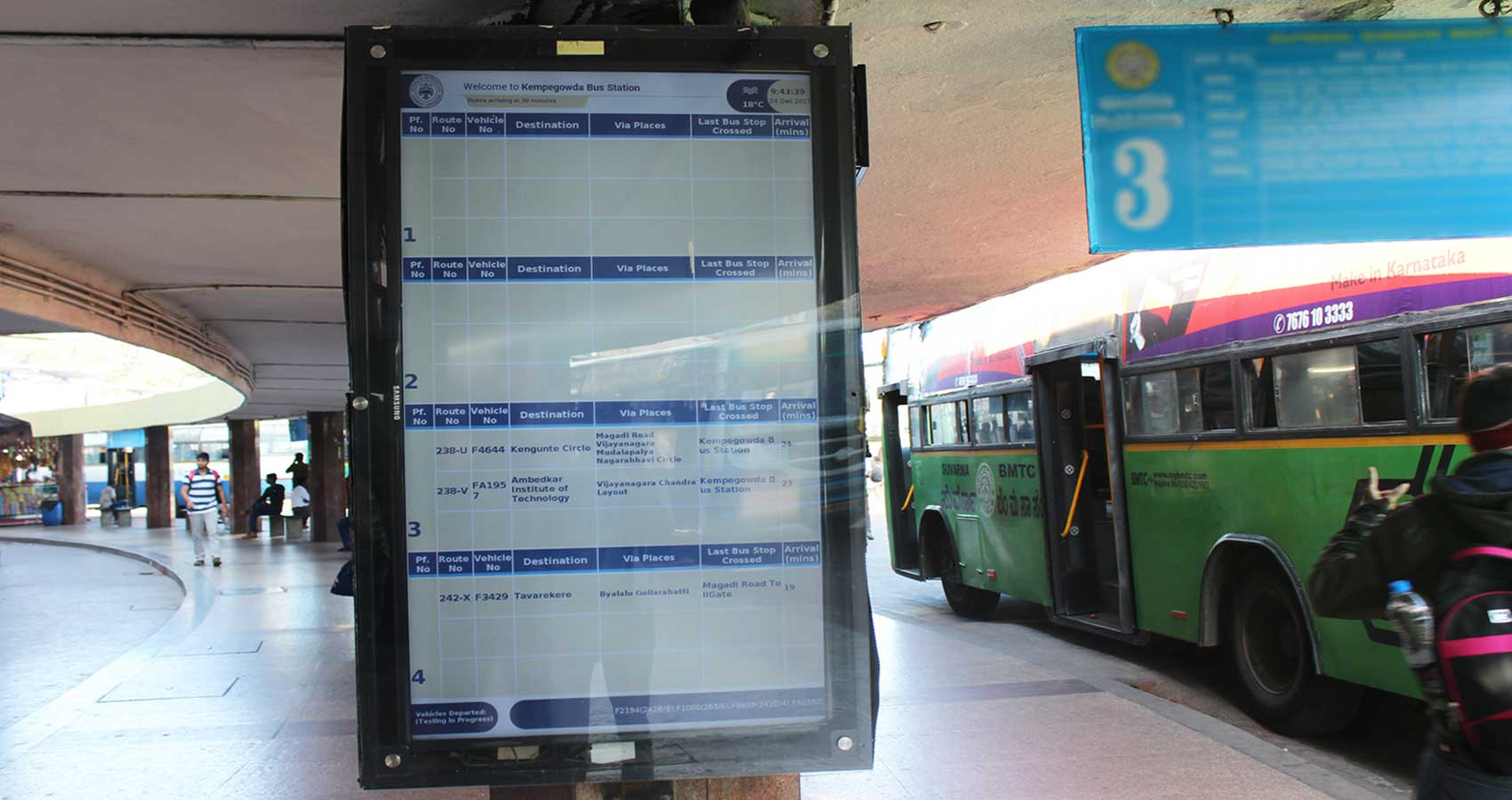 Image result for latest images of Digital screens at five bus stations from January' in bengaluru